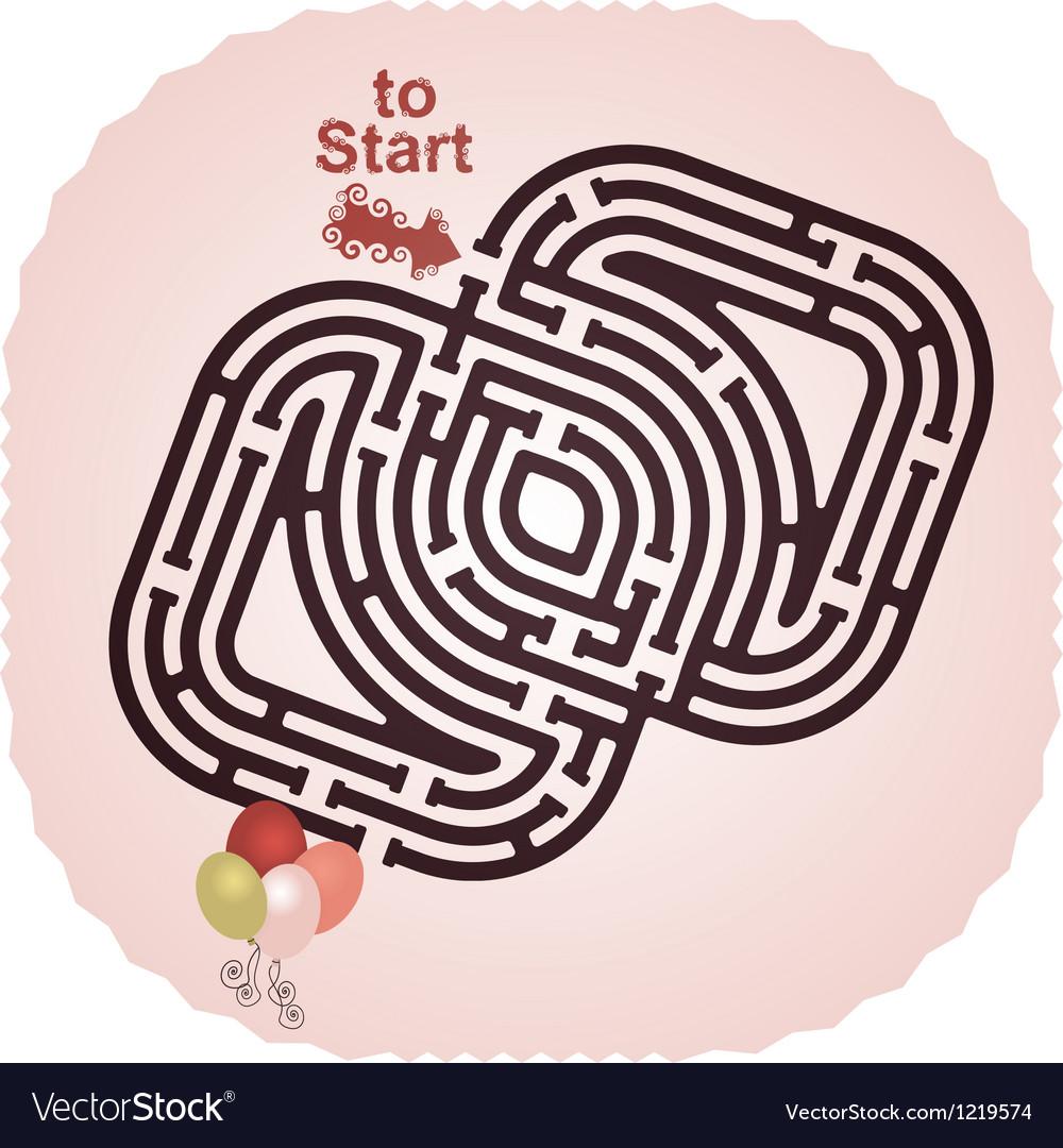 Balloon Maze vector image