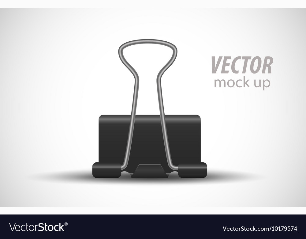 Clerical clothespin on white background Mock Up