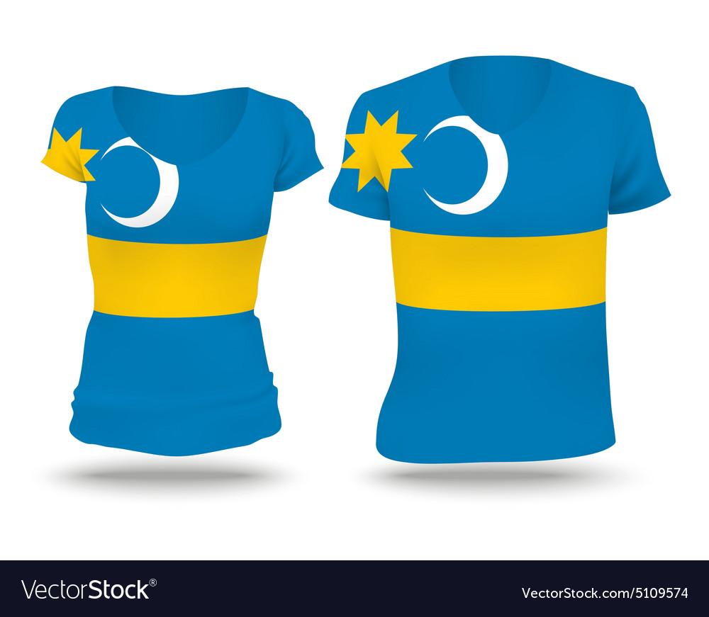 Flag shirt design of Szeklerland vector image