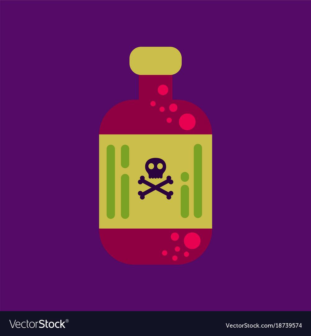 Flat icon stylish background potion in bottle