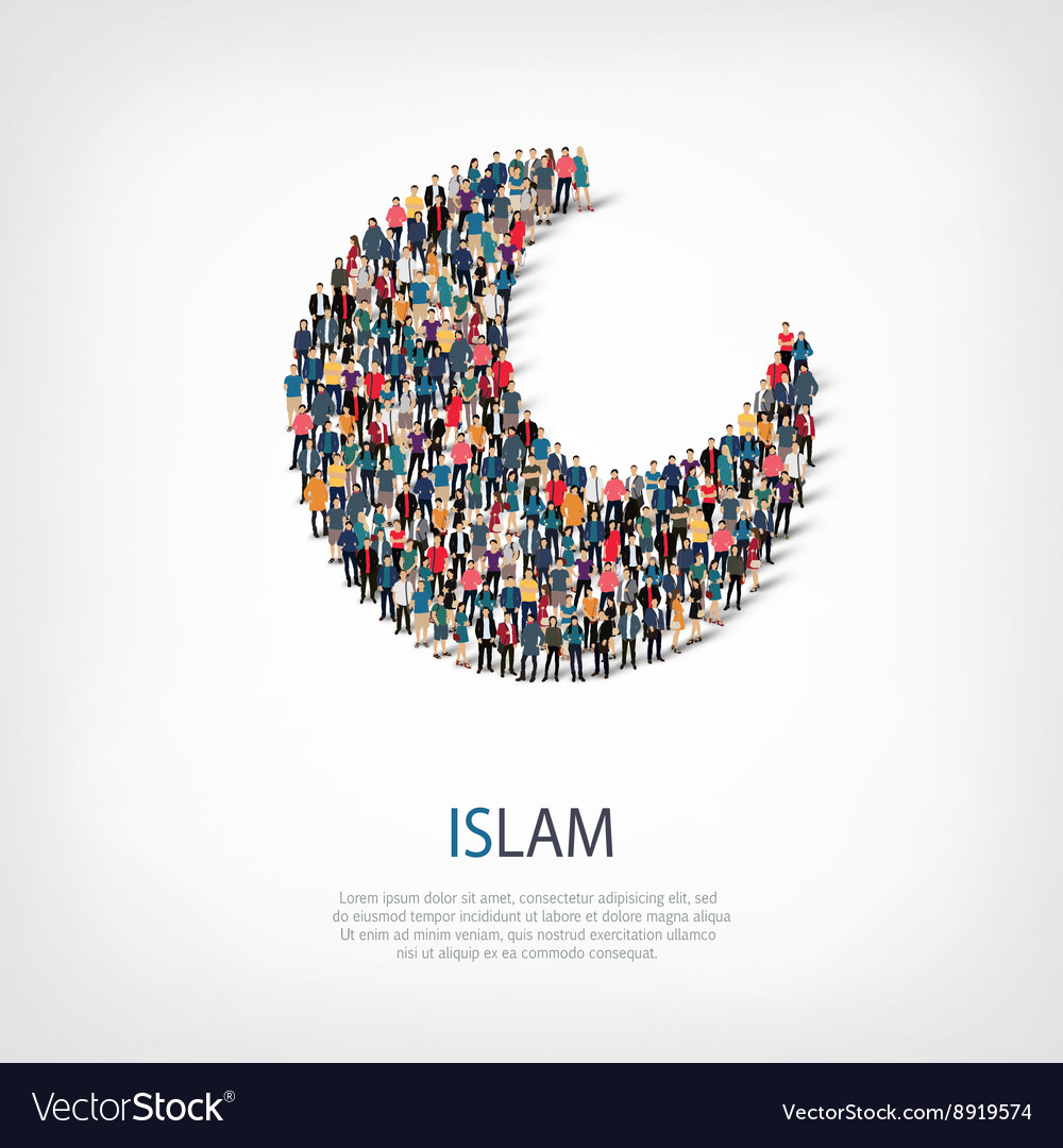 Islam people sign 3d