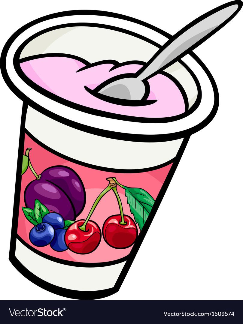 Yogurt clip art cartoon Royalty Free Vector Image