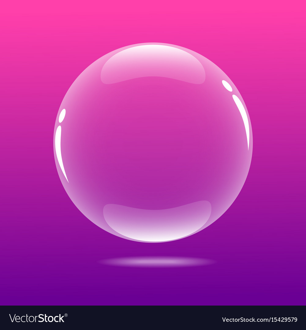Big bubble with pink color Royalty Free Vector Image