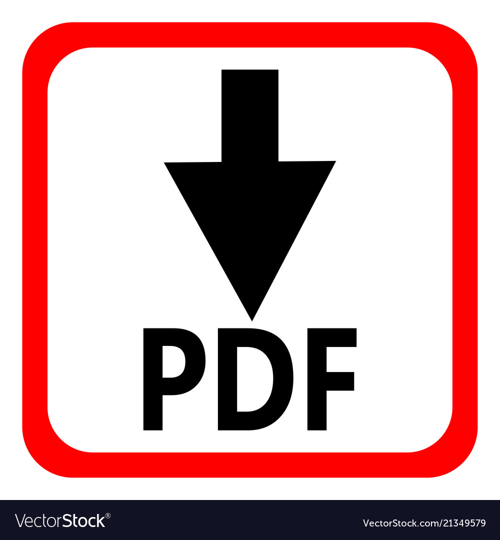 Download pdf file button isolated on white