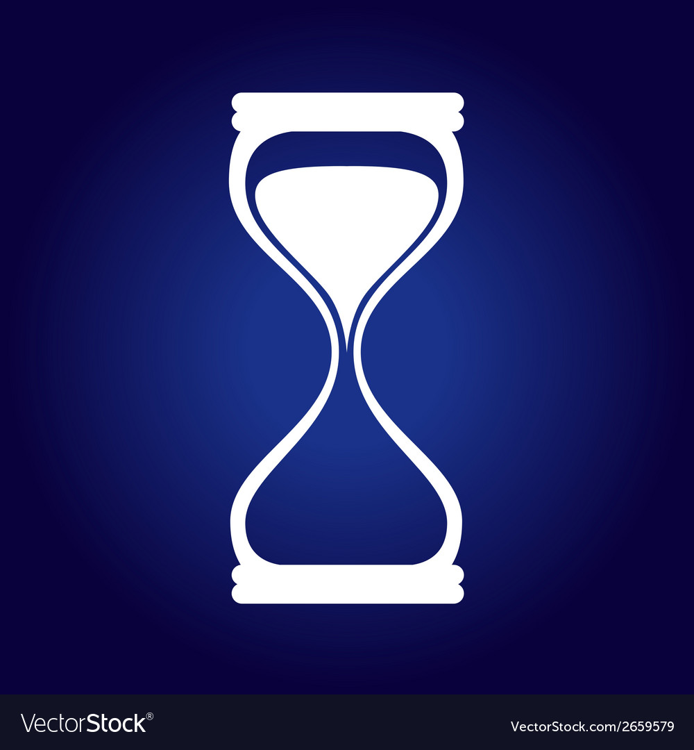 Hourglass Blue vector image
