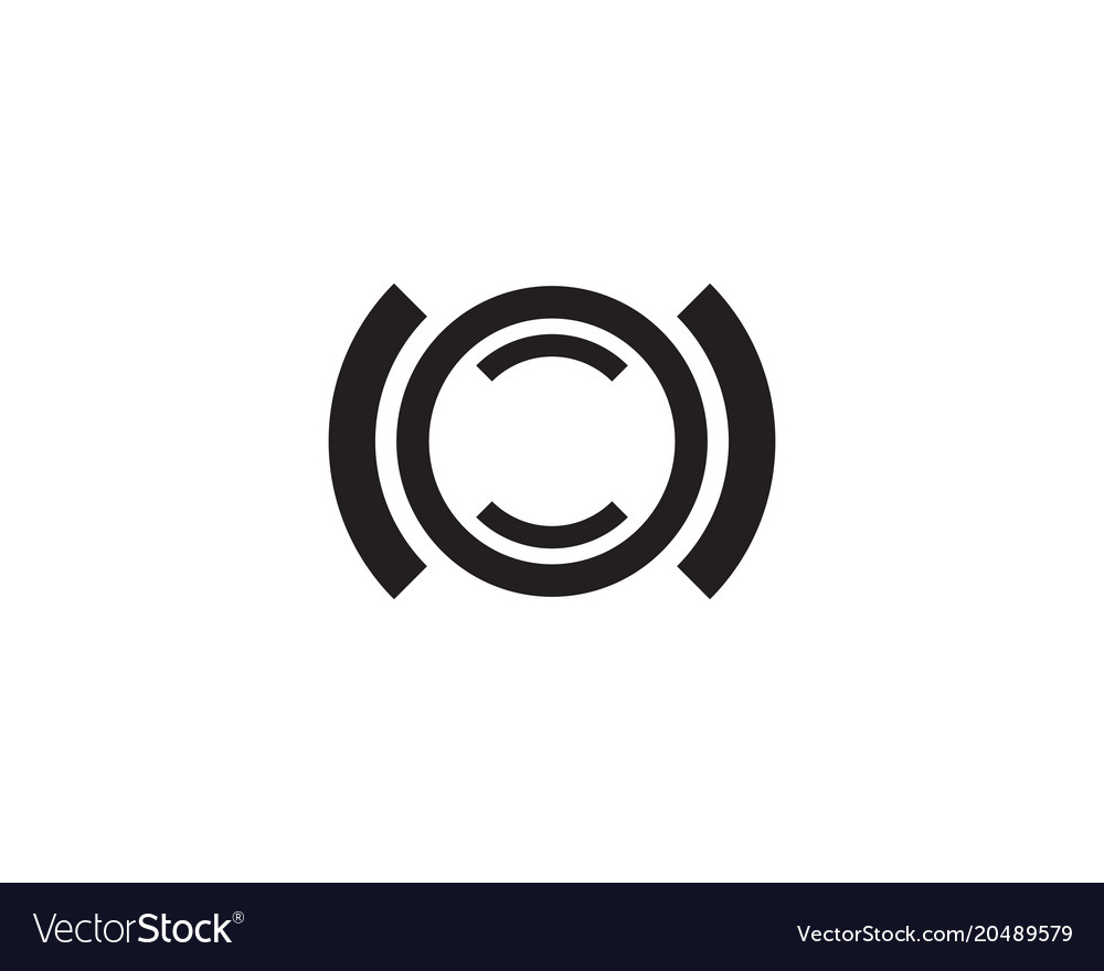 letter c logo template design app royalty free vector image