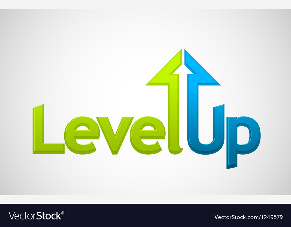 Level Up vector image