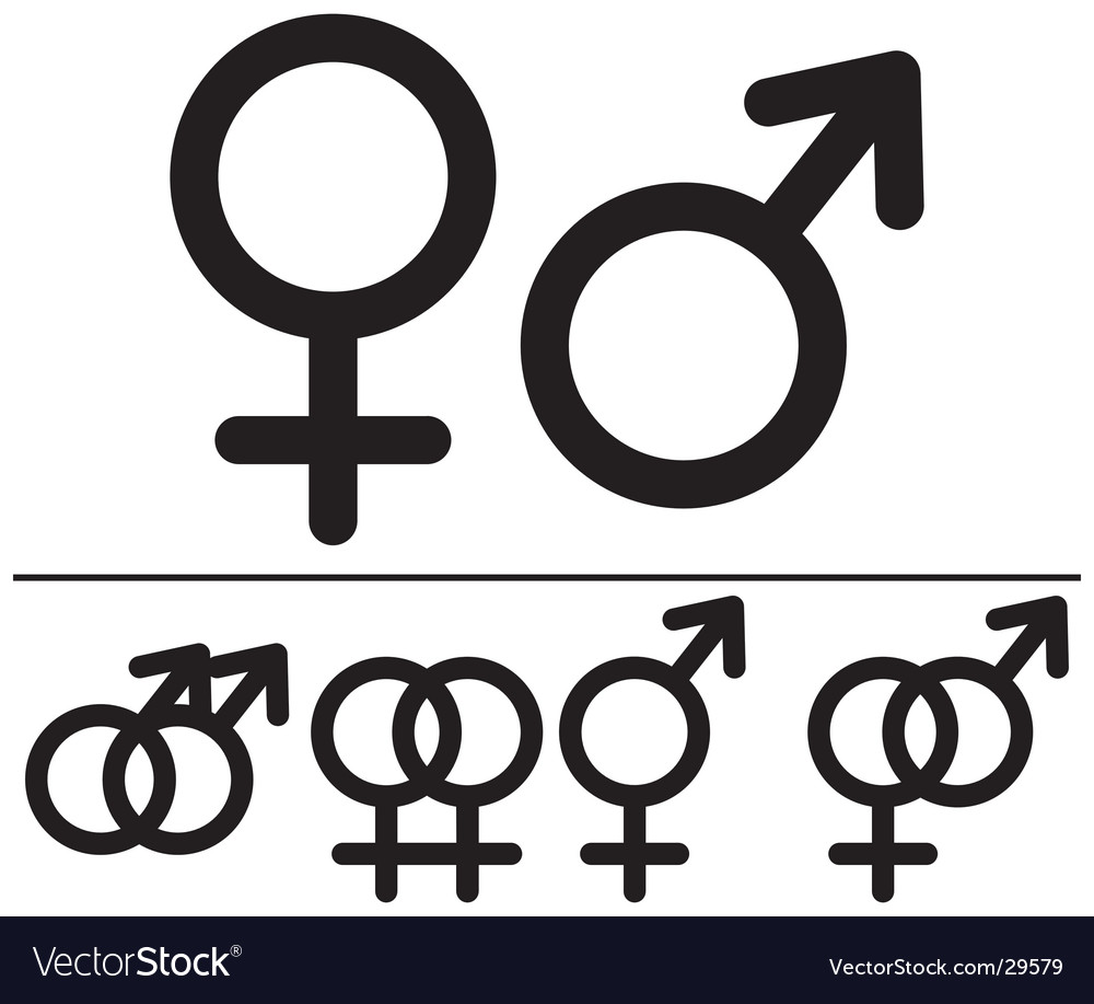 Male And Female Symbols Royalty Free Vector Image
