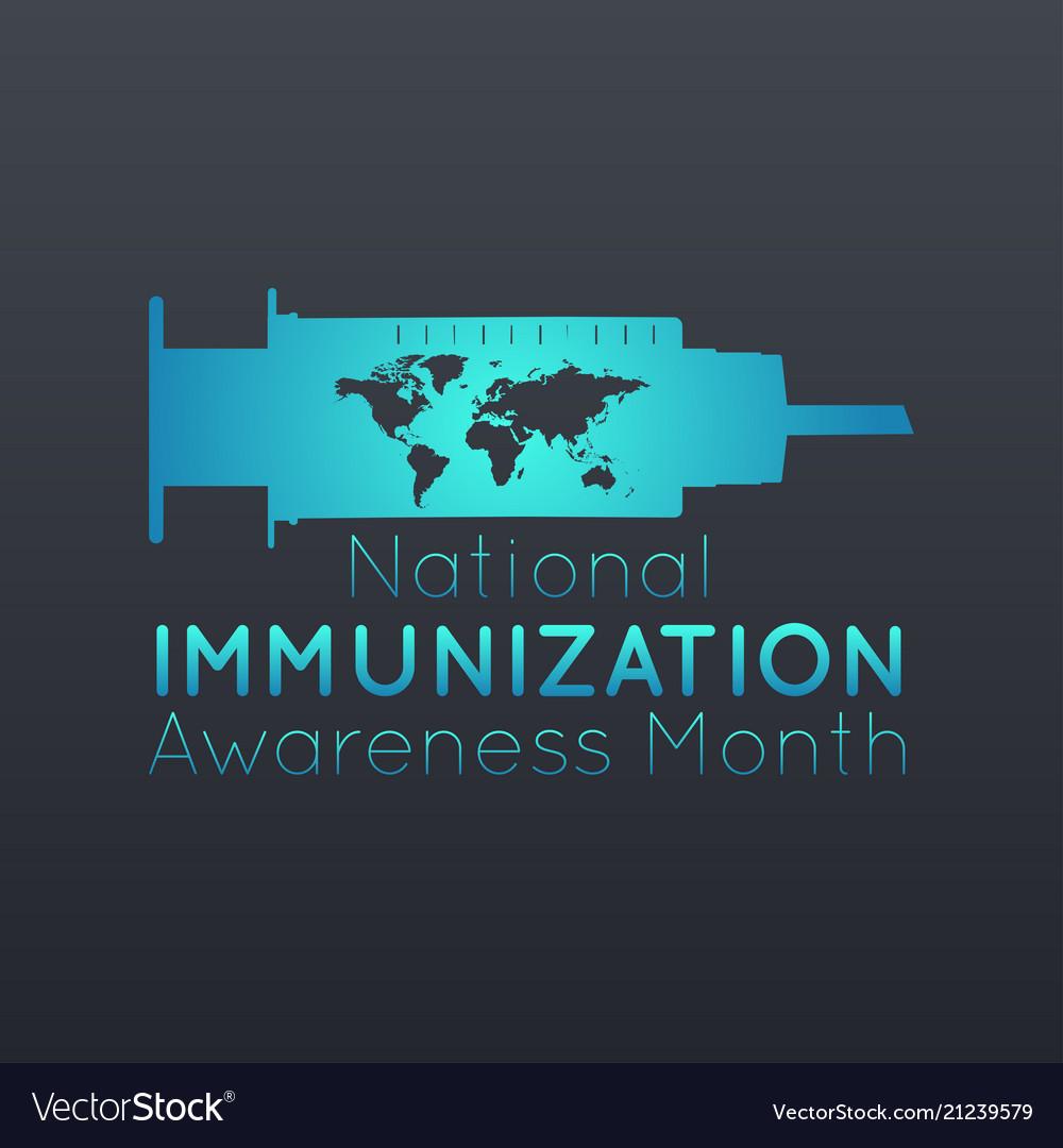 National immunization awareness month logo icon