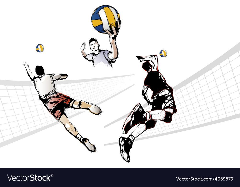 Volleyball trio
