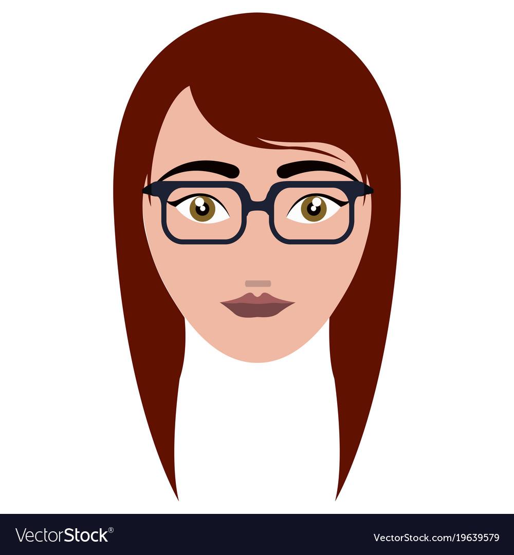 Woman hipster avatar