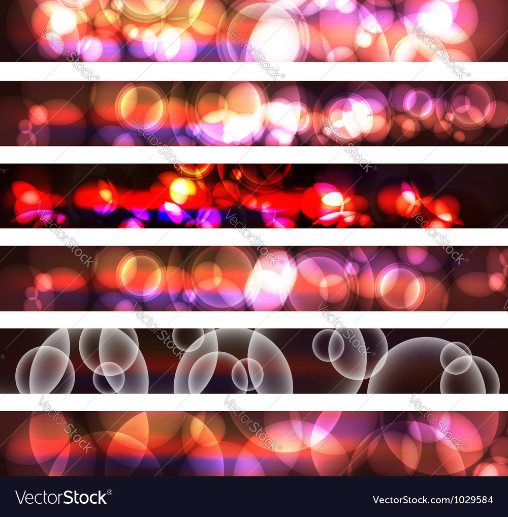 Abstract Bubble Splatter Banner vector image