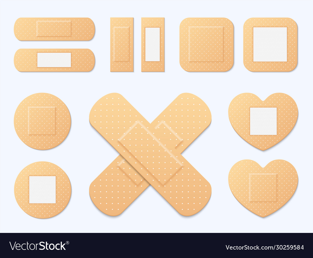 Adhesive bandage elastic medical plasters set of
