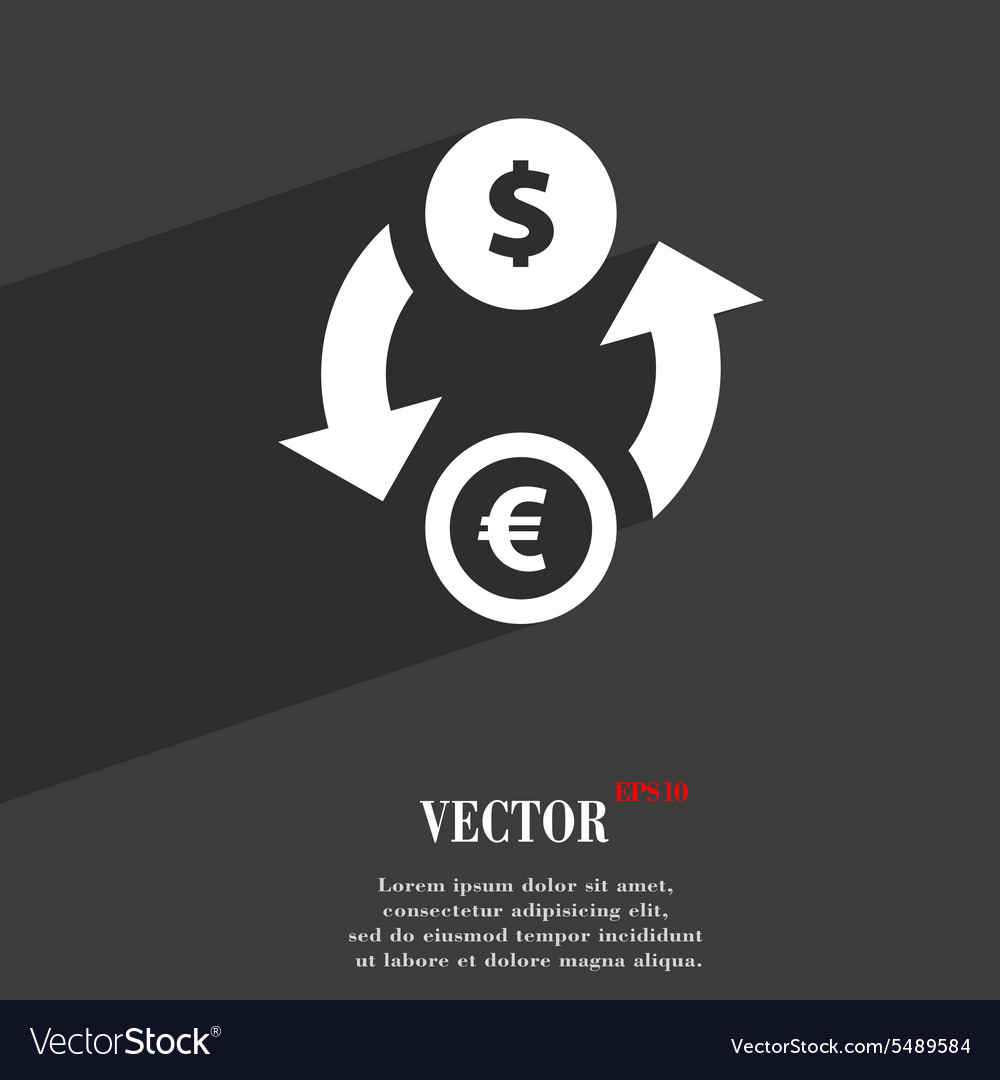 Currency exchange icon symbol Flat modern web