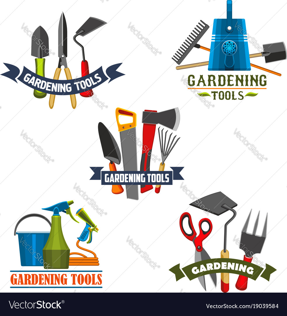 Gardening tools and agriculture equipment icon