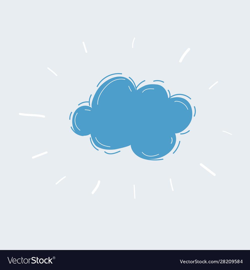 Hand drawn cloud