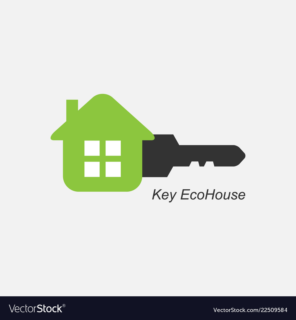 Key eco house icon logo for the company
