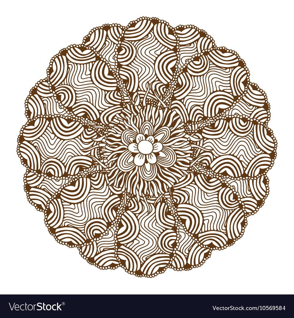 a097d2afd Mehndi Henna Tattoo Mandala Royalty Free Vector Image