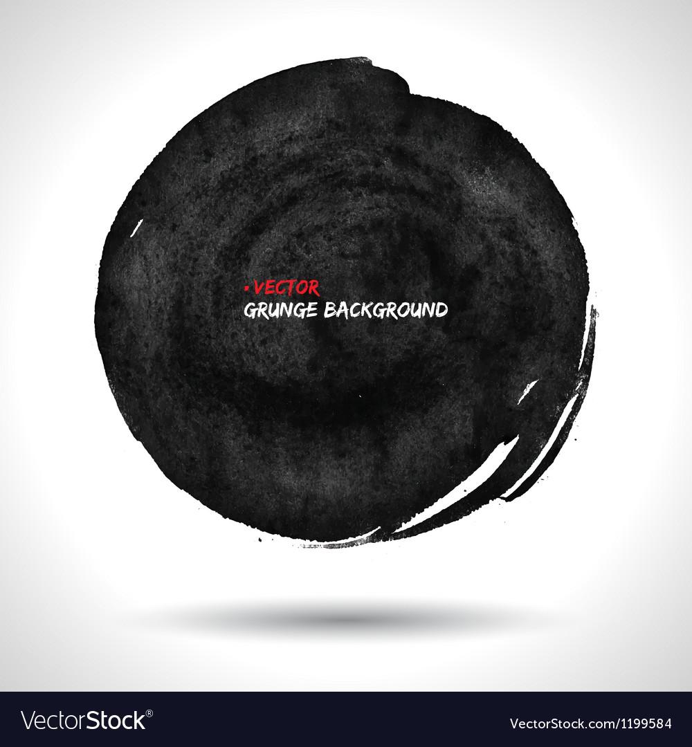 ROUND GRUNGE SHAPE vector image