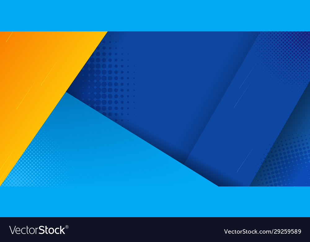 Abstract Background Blue Yellow Color Bright Vector Image