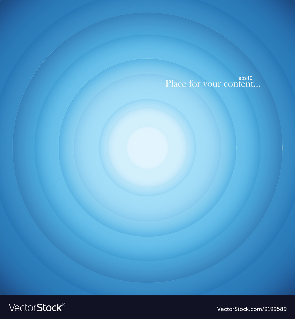 Blue round abstract background vector image
