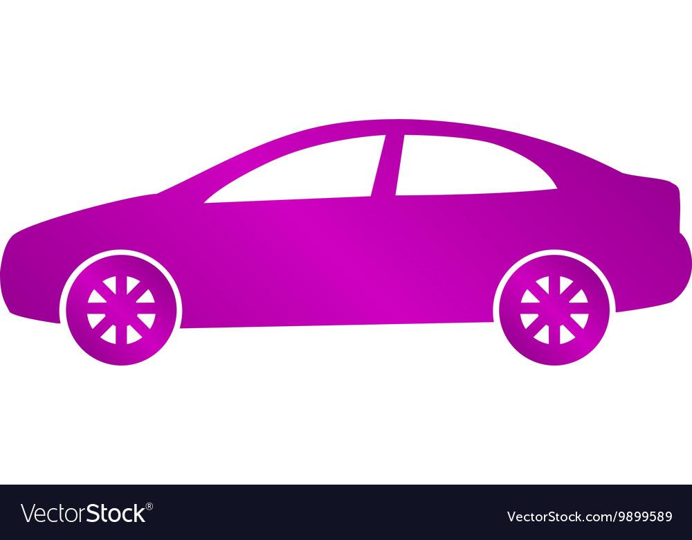 Car icon Flat design style