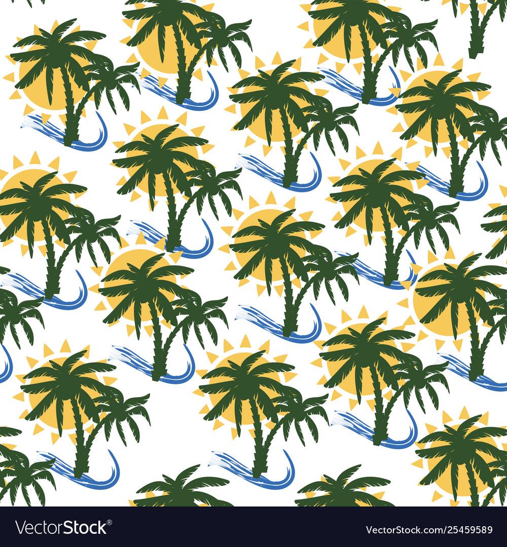 Coconut tree print for textile design