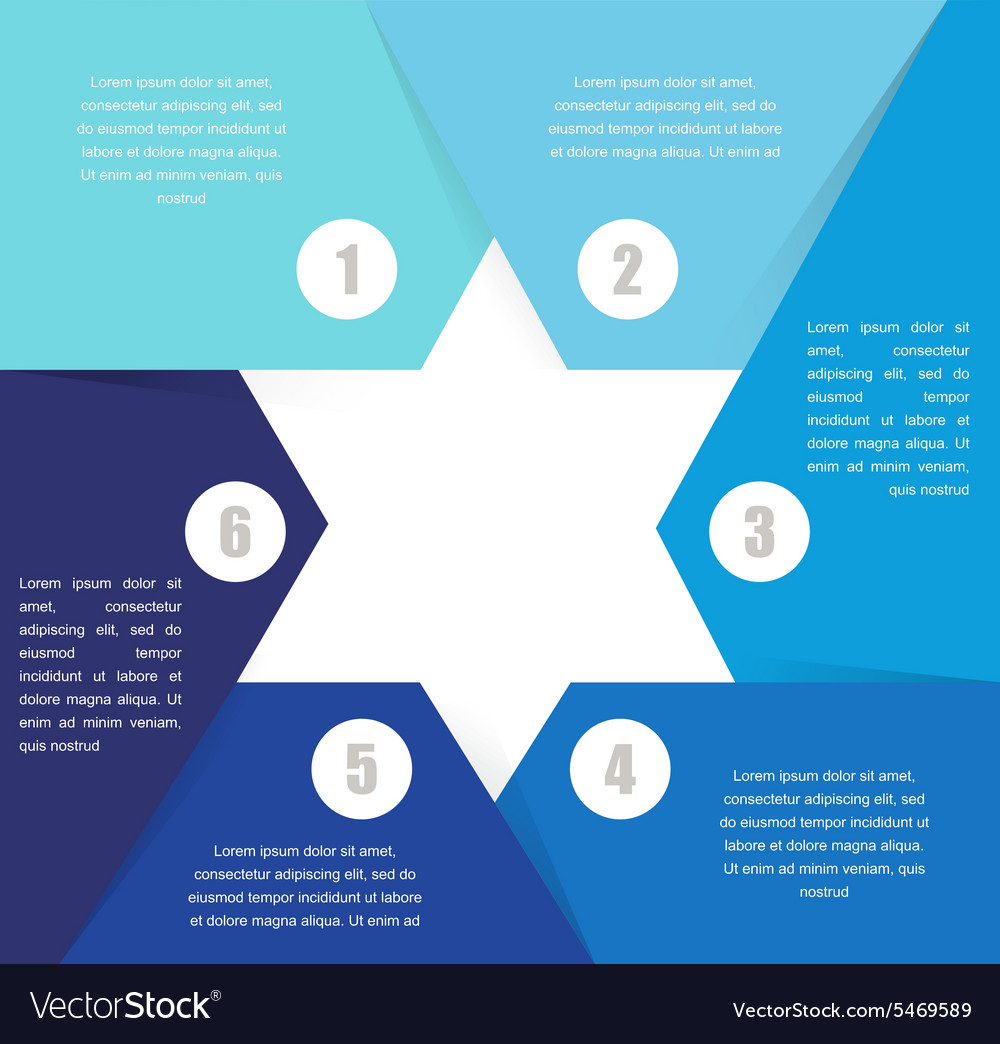 David Star design template and infographics
