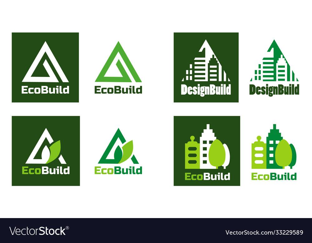 Eco design real estate logo home building logo