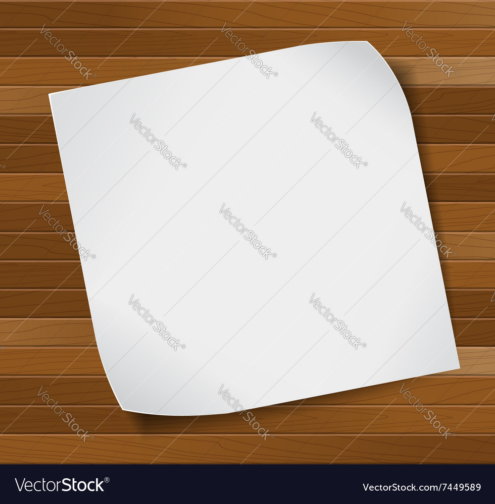 Paper sheet over wooden background