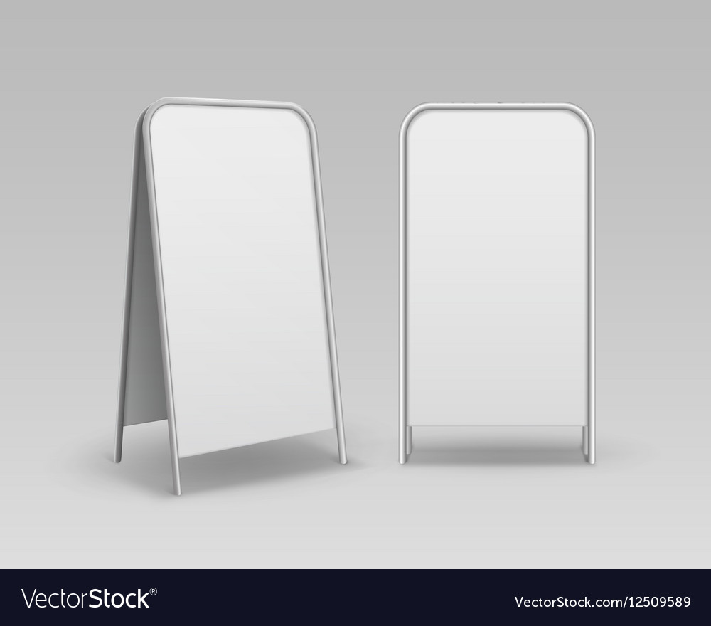 Set of Blank Advertising Handheld Sandwich Stands vector image