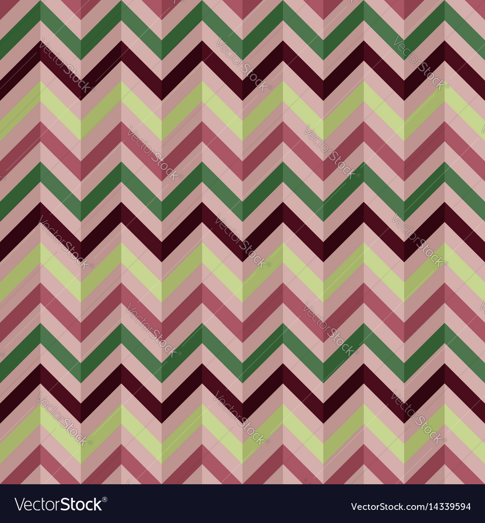 Abstract seamless geometric retro zigzag pattern