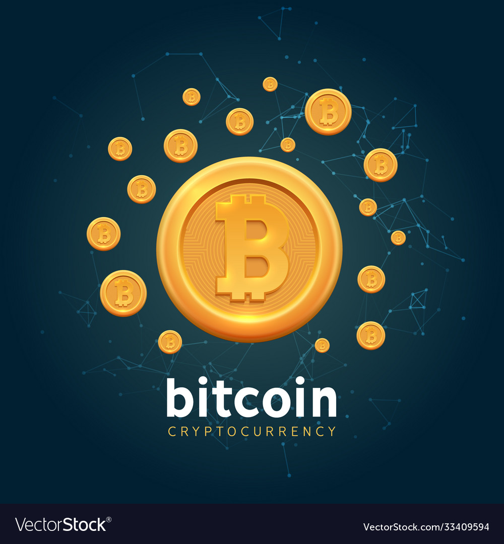 Bitcoin crypto currency background bit
