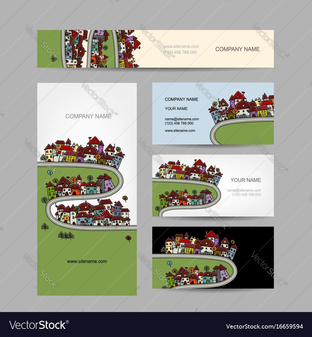 Business cards design green village