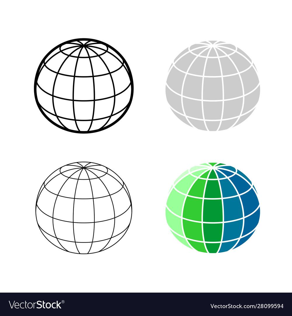 Earth globe 3d mesh model icon ball sphere