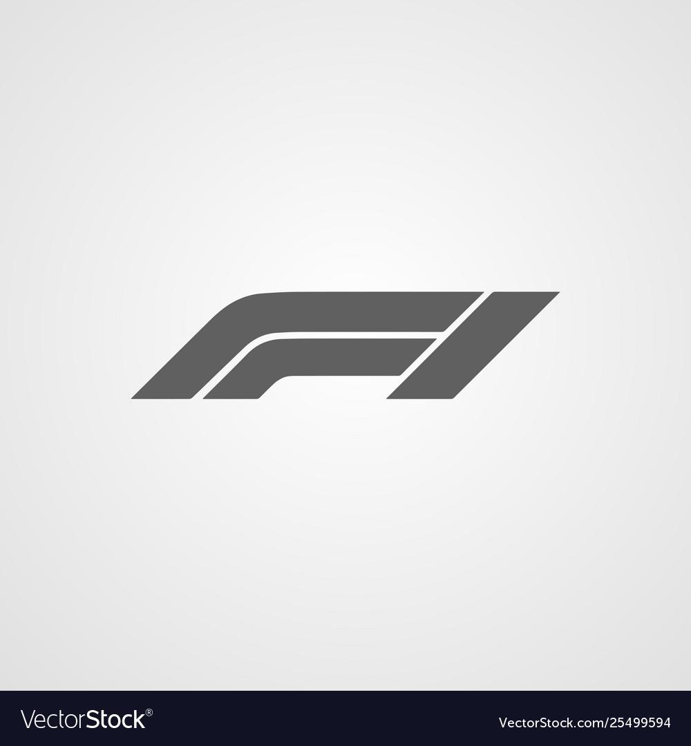 Formula 1 or f1 logo icon symbol isolated