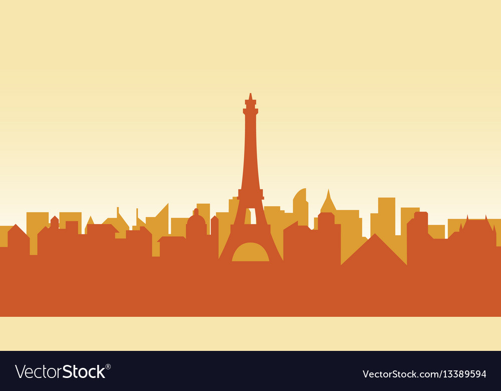 France silhouette architecture buildings town city