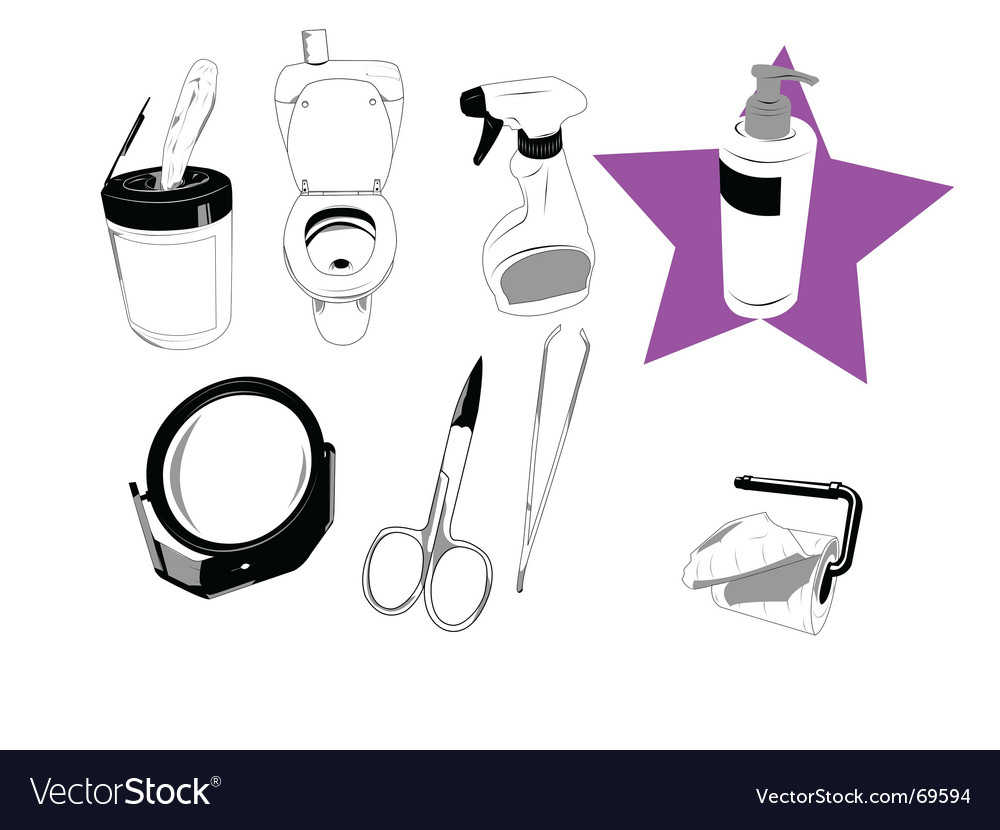 House objects vector image