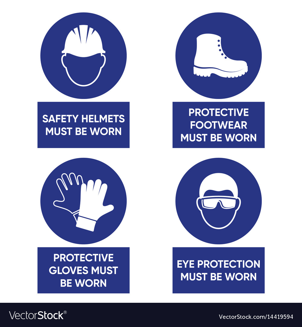 Mandatory health safety signs vector image