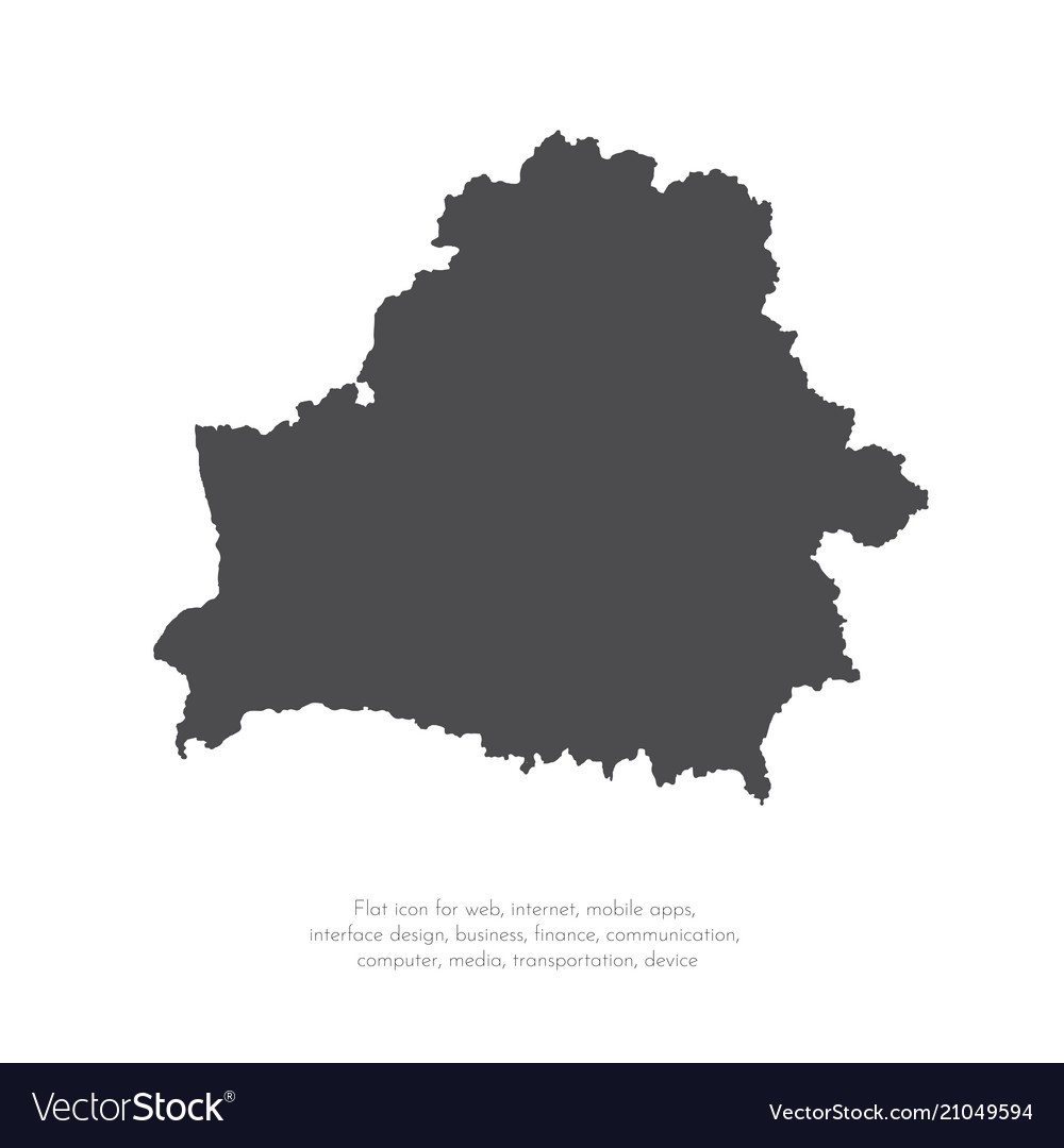 Map belarus isolated black