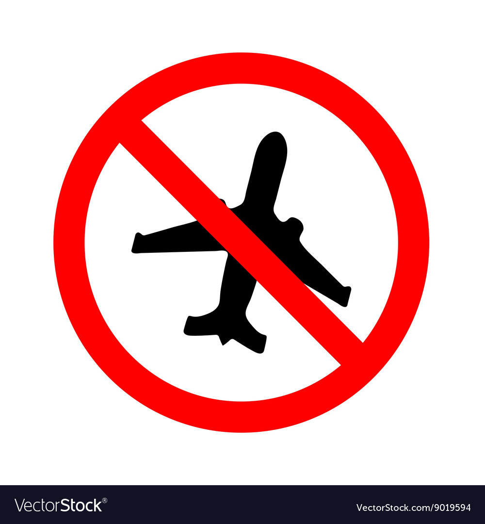No flying on white backgroundprohibit sign