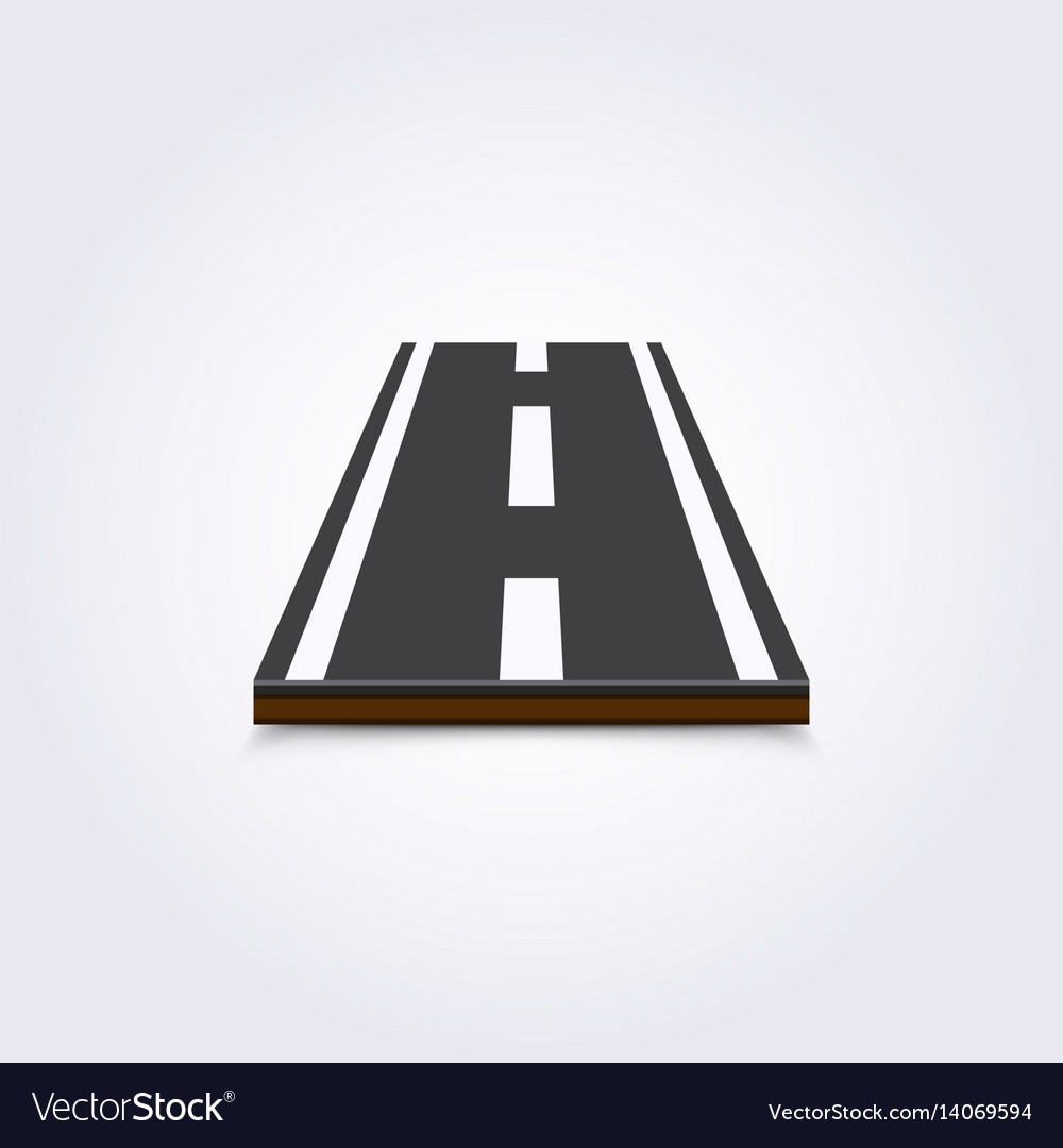 Road icon 3d on a white background
