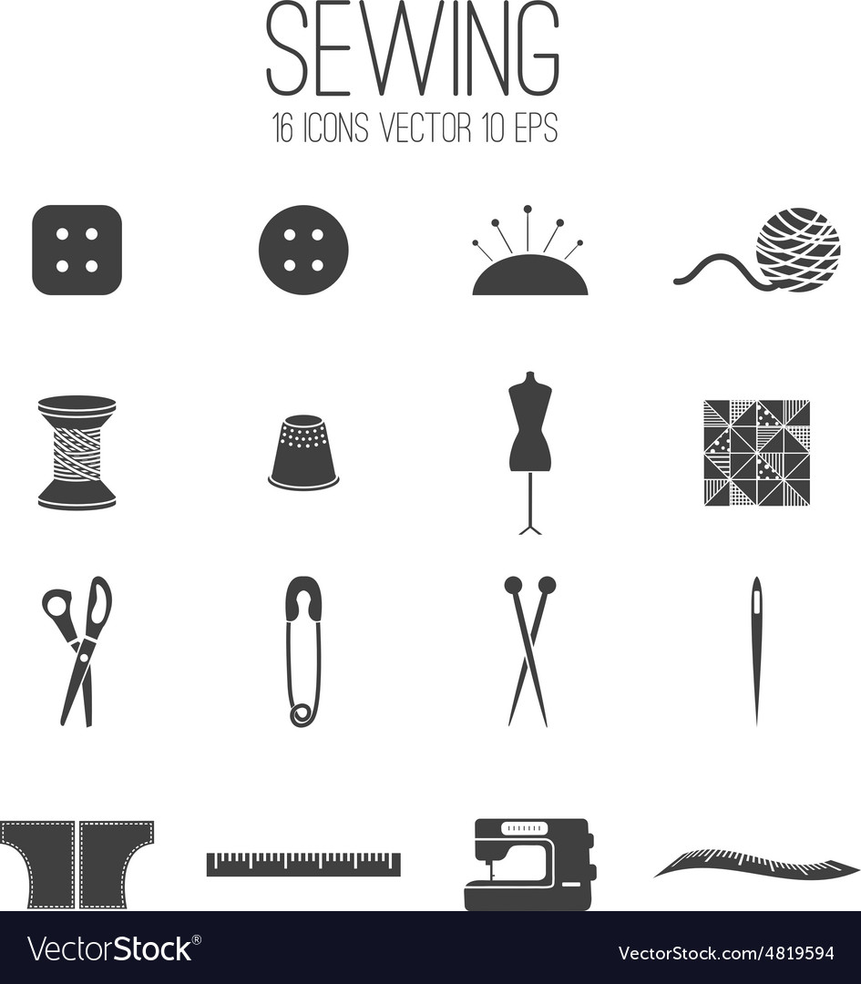 Set icon of sewing