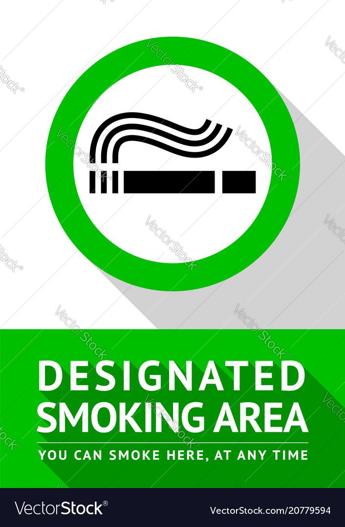 Smoking place poster