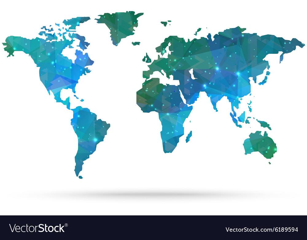 Sparkle diamond world map