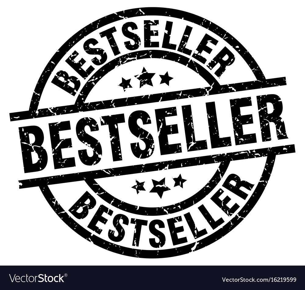 Bestseller round grunge black stamp vector image