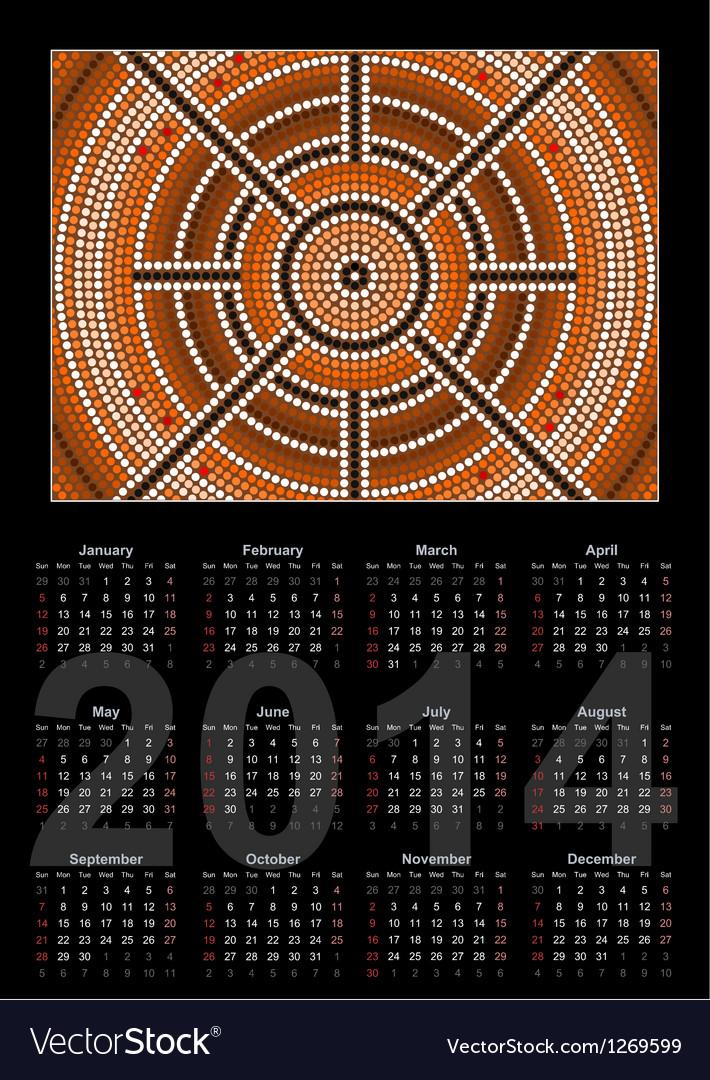 Center kalendar schwarz 380 vector image