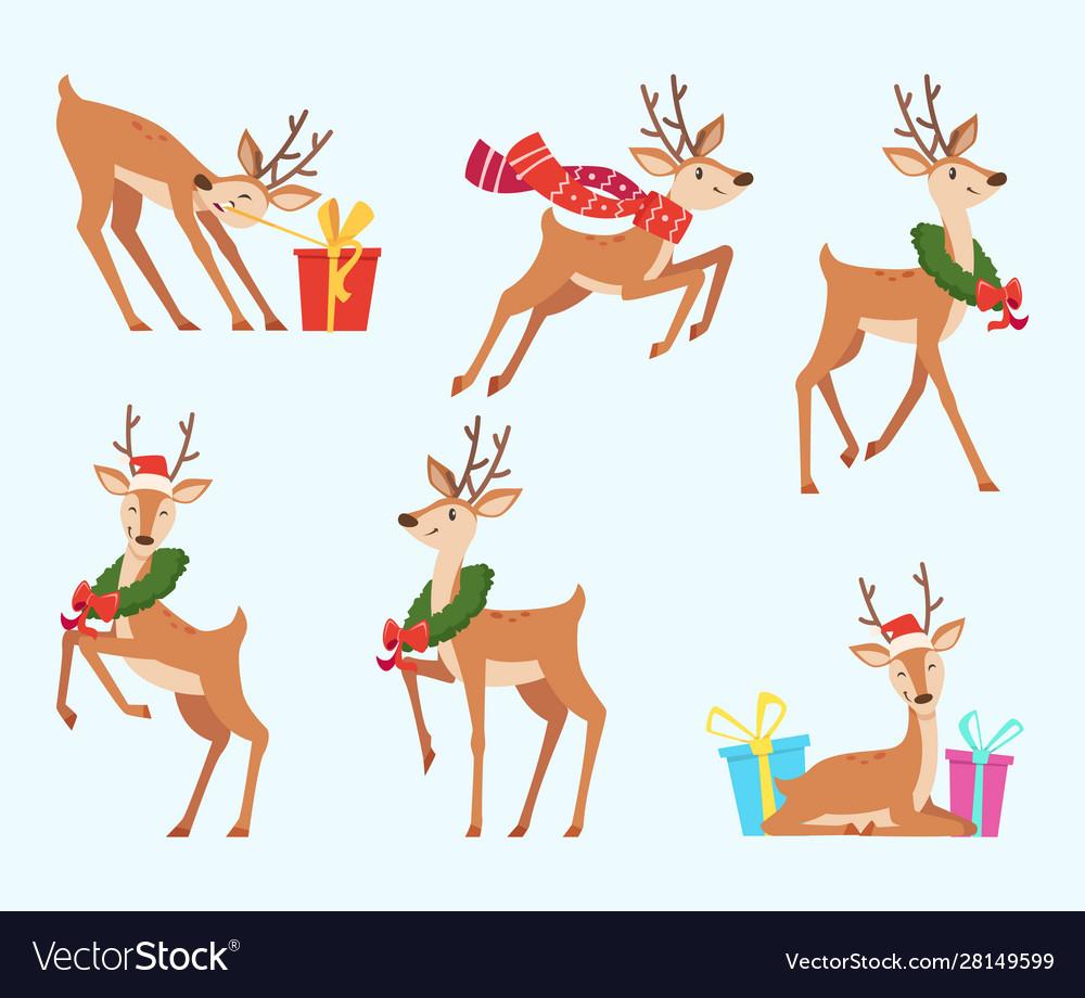 Christmas deer cute fairytale animal reindeer in