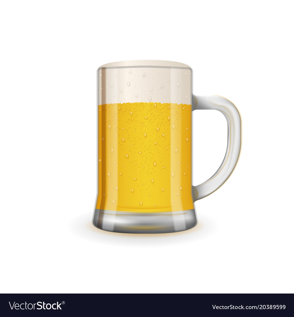 Fresh and tasty glass beer