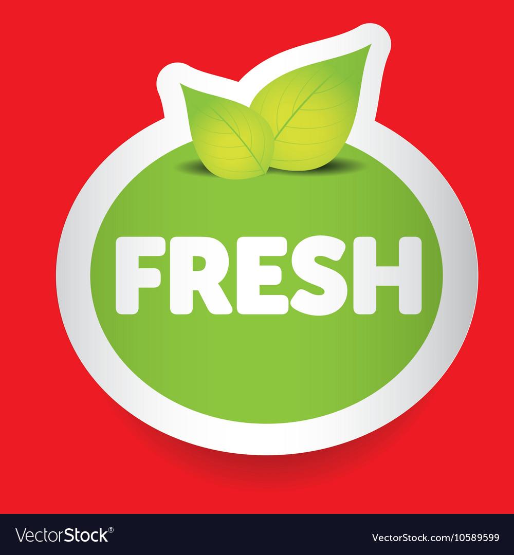 Fresh food label